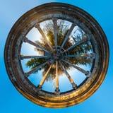 Panorama Spheric di rotunda del ristorante abbandonato sul supporto Akh Immagine Stock Libera da Diritti