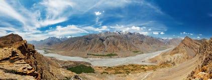 Panorama Spiti dolina w himalajach Obraz Stock