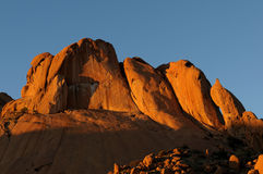 A panorama of Spitzkoppe in Namibia Stock Photography