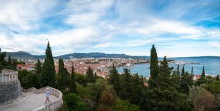 Panorama of Split, Croatia Stock Image