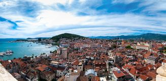 Panorama of Split, Croatia Stock Photography