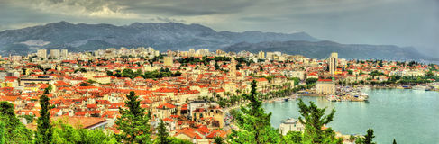 Panorama of Split, the second-largest city in Croatia Stock Photography