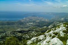 Panorama of the Split town in Croatia Stock Images