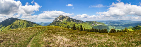 Panorama from spring Little Fatra National Park, Slovakia Royalty Free Stock Images