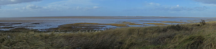 Panorama of spurn head point stock image