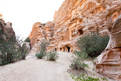 Panorama of square in Little Petra Stock Image