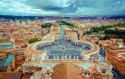 Panorama Square St. Peter and all of Rome Royalty Free Stock Photography