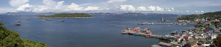 Panorama for Srichang island, Thailand. Stock Images