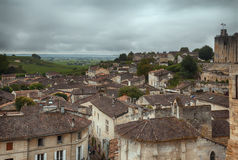 Panorama of  St-Emilion village Stock Images