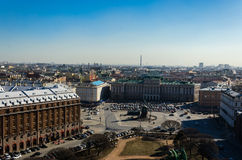 Panorama of St. Isaac's Square Stock Photos