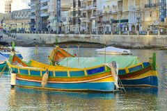 Panorama of St Julians in Malta. Panorama of St Julians and Spinola Bay in Malta royalty free stock photos