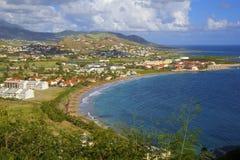 Panorama of St Kitts, Caribbean Stock Image