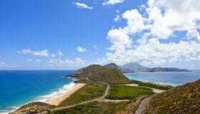 Panorama of st kitts and nevis Stock Image