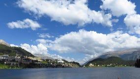 Panorama of St. Moritz Royalty Free Stock Photo