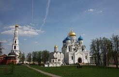 Panorama of St. Nicholas Ugreshsky monastery. Royalty Free Stock Photo