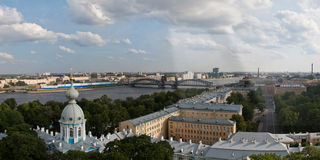 Panorama of St-Petersburg Stock Photography
