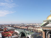 Panorama of St.-Petersburg. From height of 45 meters Stock Image