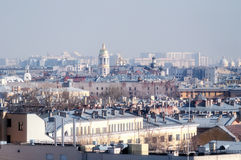 Panorama of St. Petersburg from bird's-eye view Stock Photos