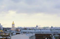 Panorama of St. Petersburg Stock Photos