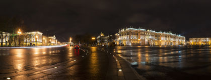 Panorama of St. Petersburg, Palace Square, Hermitage and Admiral Royalty Free Stock Photos