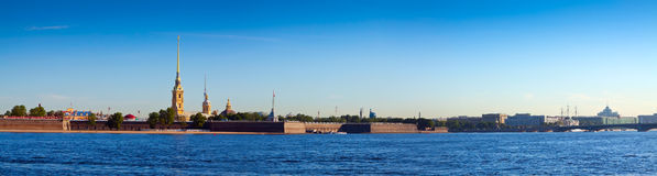 Panorama of St. Petersburg. Peter and Paul Fortress Stock Photo