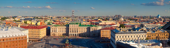 Panorama of  St.Petersburg from Saint Isaac's Cathedral Royalty Free Stock Images