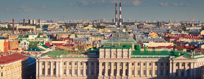 Panorama of  St.Petersburg Stock Photos