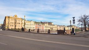 Panorama of St. Petersburg on a Sunny spring day. stock image
