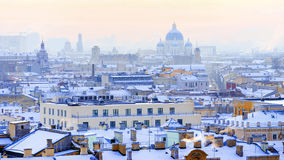 Panorama of St. Petersburg. View from St. Isaac's Cathedral Royalty Free Stock Images