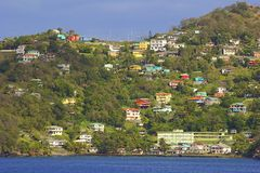 Panorama of Kingstown in St Vincent Royalty Free Stock Photography