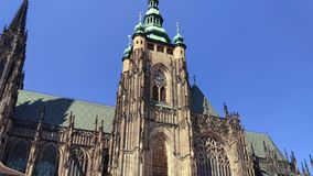 St. Vitus Cathedral Roman Catholic cathedral in Prague Castle, Czech Republic. Panorama of St. Vitus Cathedral Roman Catholic cathedral  in Prague Castle, Czech stock video footage