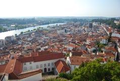 Panorama- stad. Royaltyfria Bilder