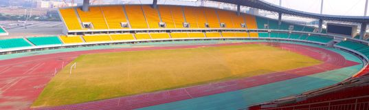 Panorama- stadion Royaltyfria Foton