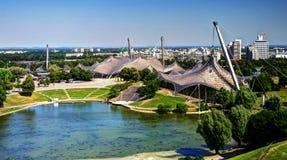 Panorama of the stadium, Munich. Panorama of the stadium in Olympic park, Munich Stock Photography