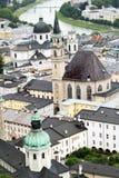 panorama stads- salzburg Royaltyfria Bilder