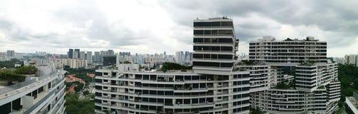 Panorama- stadssikt av Singapore royaltyfri fotografi