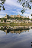 Panorama Stadt-Ansicht und Festung Chinon frankreich stockfotografie