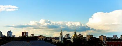 Panorama-Stadt Orla Stockbild