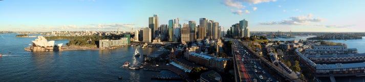 Panorama-Stadtskyline Sydneys CBD Stockbilder