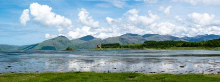 Panorama of Stalker Castle in Scotland Royalty Free Stock Photo