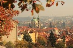 Panorama Stara Grodzka architektura w Praga, republika czech Zdjęcia Royalty Free