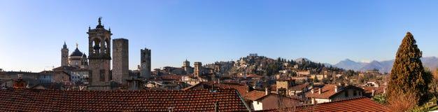 Panorama stary Bergamo, Włochy Zdjęcie Royalty Free