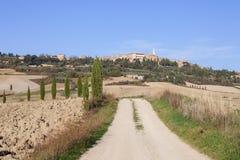 Panorama stary grodzki Pienza Fotografia Stock