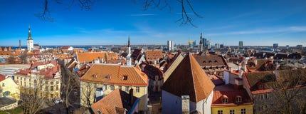 Panorama stary grodzki Tallinn Zdjęcia Royalty Free