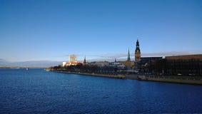 Panorama stary miasteczko w Ryskim Zdjęcia Stock