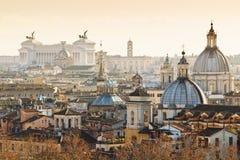 Panorama stary miasteczko w Rzym Zdjęcia Royalty Free