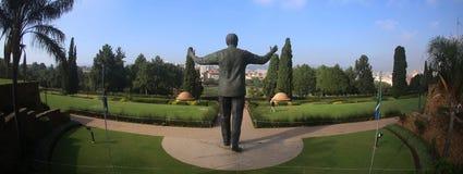 Statue of Nelson Mandela in Johannesburg stock image