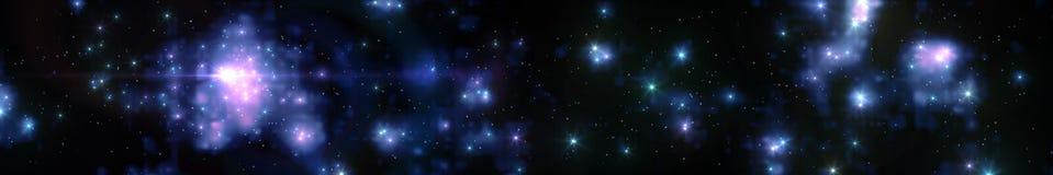 Panorama stellato Immagine Stock