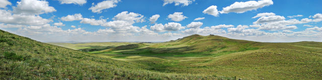 Panorama of steppe Royalty Free Stock Photo