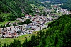 panorama- Österrike soelden för att visa Royaltyfri Bild